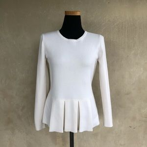 Banana republic cozy cream peplum sweater